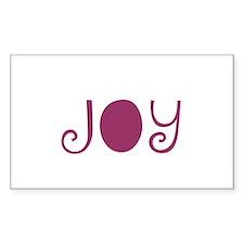 Joy Rectangle Decal