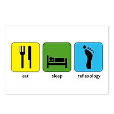Eat, Sleep, Reflexology Postcards (Package of 8)