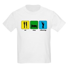 Eat, Sleep, Reflexology Kids T-Shirt