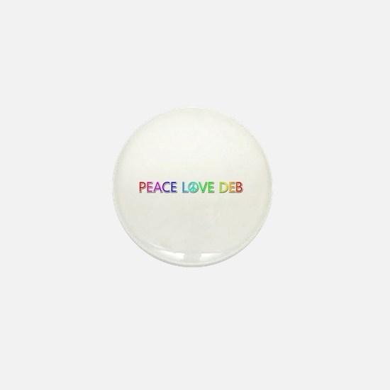 Peace Love Deb Mini Button