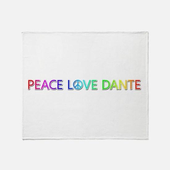 Peace Love Dante Throw Blanket