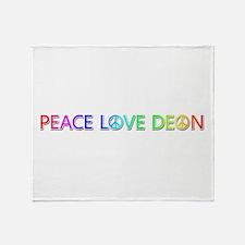 Peace Love Deon Throw Blanket