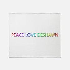Peace Love Deshawn Throw Blanket