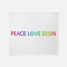 Peace Love Dion Throw Blanket