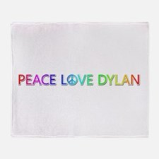 Peace Love Dylan Throw Blanket