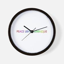 Peace Love Dominique Wall Clock