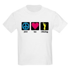 Peace, Love, Reflex Kids T-Shirt