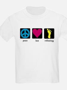 Peace, Love, Reflex Kids T-Shirt