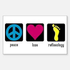 Peace, Love, Reflex Rectangle Decal