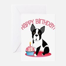 Cute Boston terrier art Greeting Cards (Pk of 20)