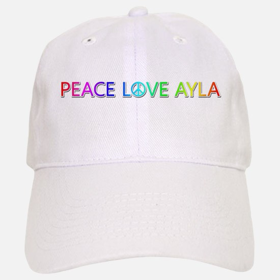 Peace Love Ayla Baseball Cap