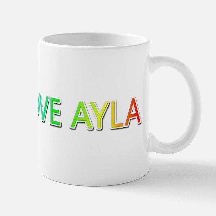 Peace Love Ayla Mugs
