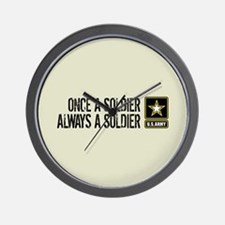 U.S. Army: Once a Soldier (Sand) Wall Clock
