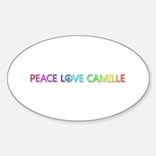 Peace Love Camille Oval Decal