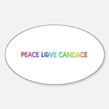 Peace Love Candace Oval Decal