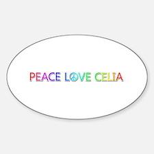 Peace Love Celia Oval Bumper Stickers