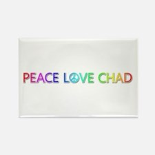 Peace Love Chad Rectangle Magnet