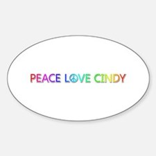 Peace Love Cindy Oval Decal