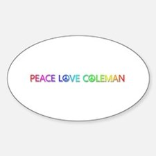 Peace Love Coleman Oval Decal