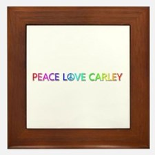 Peace Love Carley Framed Tile