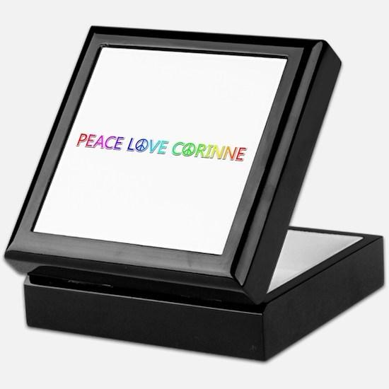 Peace Love Corinne Keepsake Box