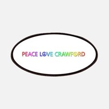 Peace Love Crawford Patch