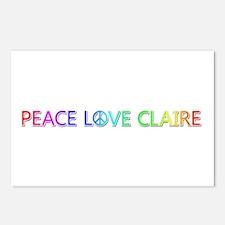 Peace Love Claire Postcards 8 Pack