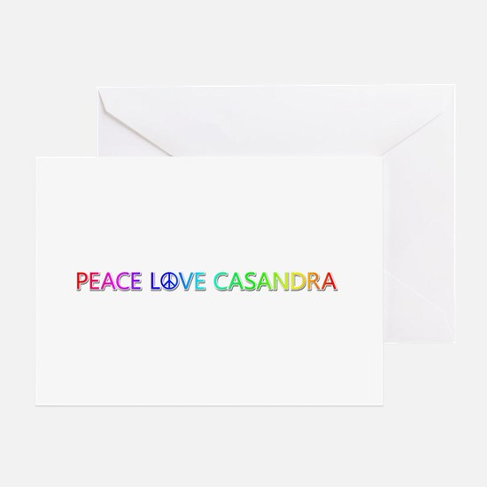 Peace Love Casandra Greeting Card