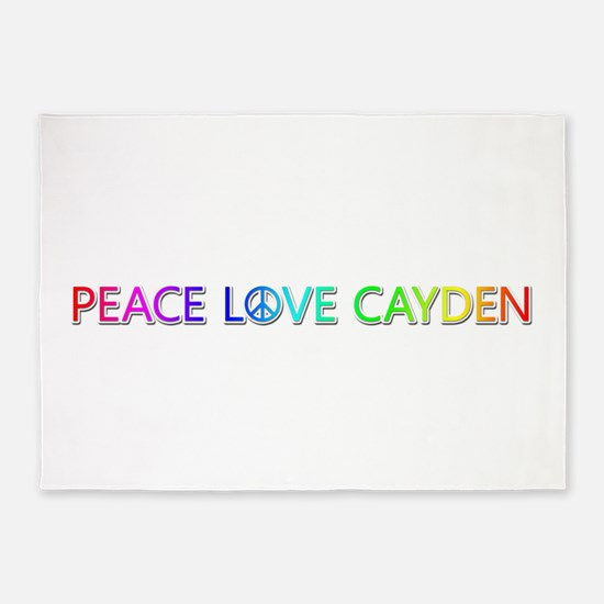 Peace Love Cayden 5'x7' Area Rug
