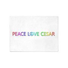 Peace Love Cesar 5'x7' Area Rug