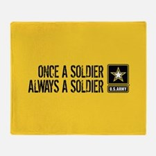 U.S. Army: Once a Soldier (Gold) Throw Blanket