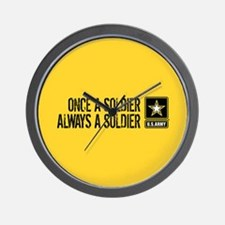 U.S. Army: Once a Soldier (Gold) Wall Clock