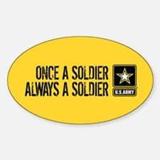 U.S. Army: Once a Soldier (Gold) Decal