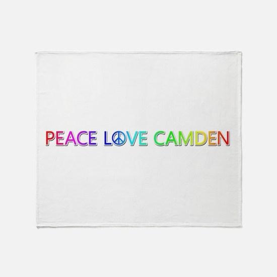Peace Love Camden Throw Blanket