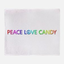 Peace Love Candy Throw Blanket