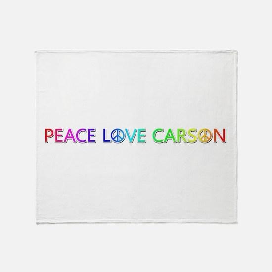 Peace Love Carson Throw Blanket
