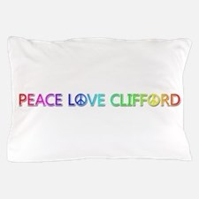 Peace Love Clifford Pillow Case