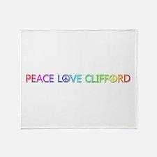Peace Love Clifford Throw Blanket