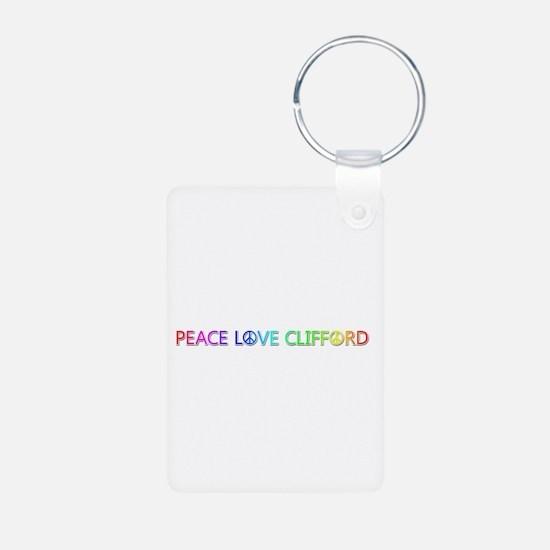 Peace Love Clifford Aluminum Keychain