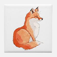 Sitting Fox Tile Coaster