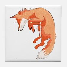 Jumping Fox Tile Coaster