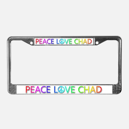 Peace Love Chad License Plate Frame