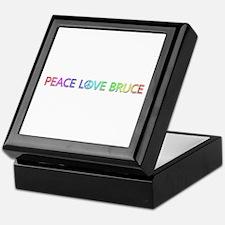 Peace Love Bruce Keepsake Box