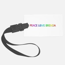 Peace Love Brenda Luggage Tag