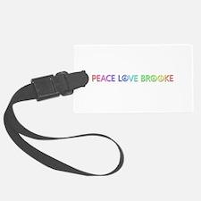Peace Love Brooke Luggage Tag
