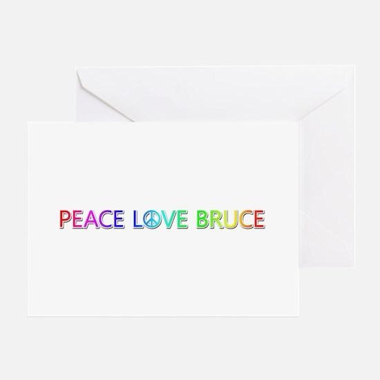 Peace Love Bruce Greeting Card