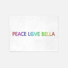 Peace Love Bella 5'x7' Area Rug