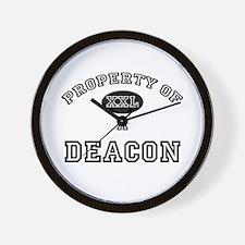 Property of a Deacon Wall Clock