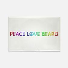Peace Love Beard Rectangle Magnet 10 Pack