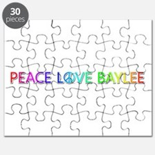 Peace Love Baylee Puzzle